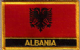 Albania Embroidered Flag Patch, style 09